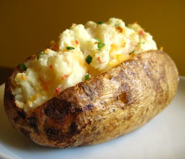 homemade twice baked potato 2 00 each crisp on the outside creamy on ...